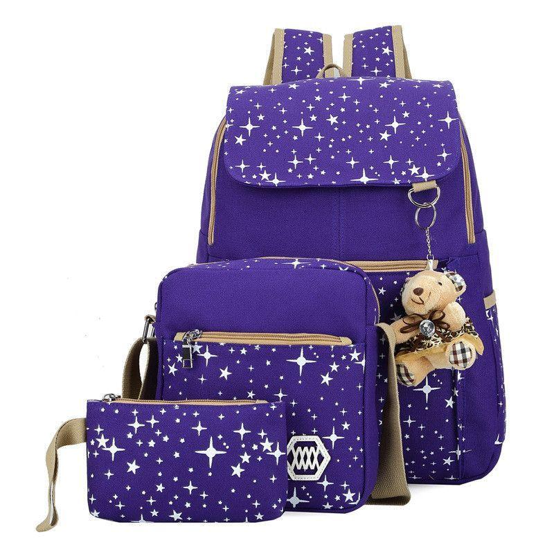 Korean Style Lovely Star Printed Leisure Street Three-Piece Bags ... 42ba43a94d252