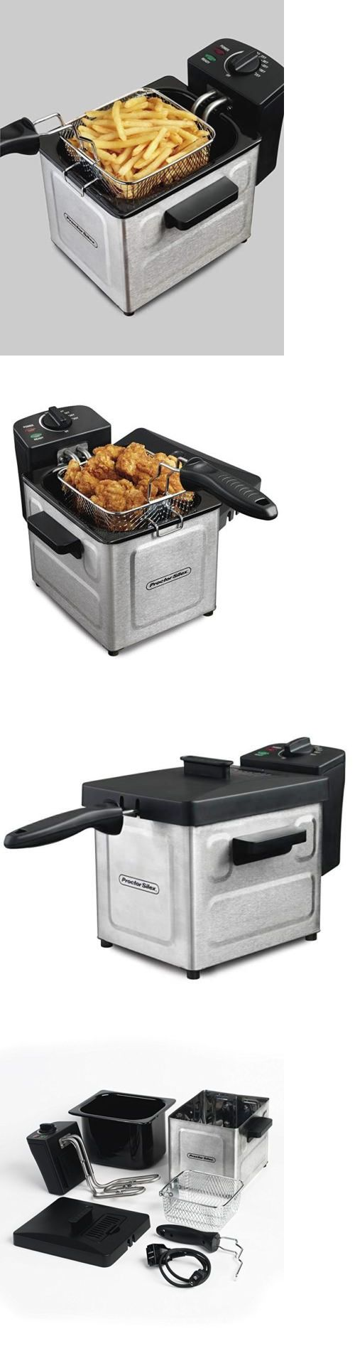 Fryers 185033 Electric Deep Fryer Countertop Machine Small Fish