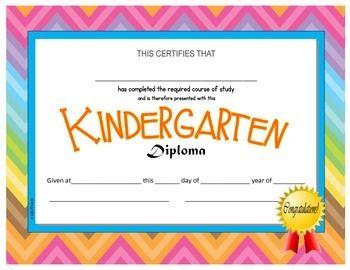 kindergarten pre k diplomas editable tpt misc lessons