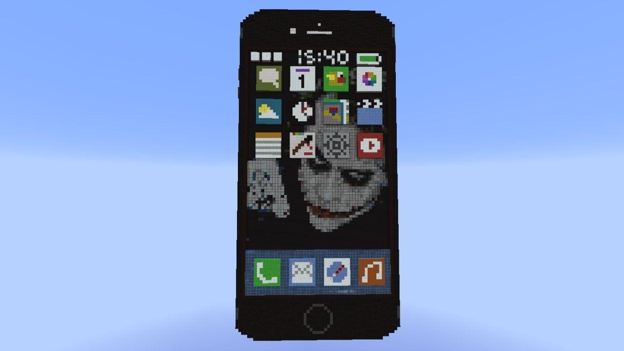 механизм телефон iphone работающий в майнкрафте #11