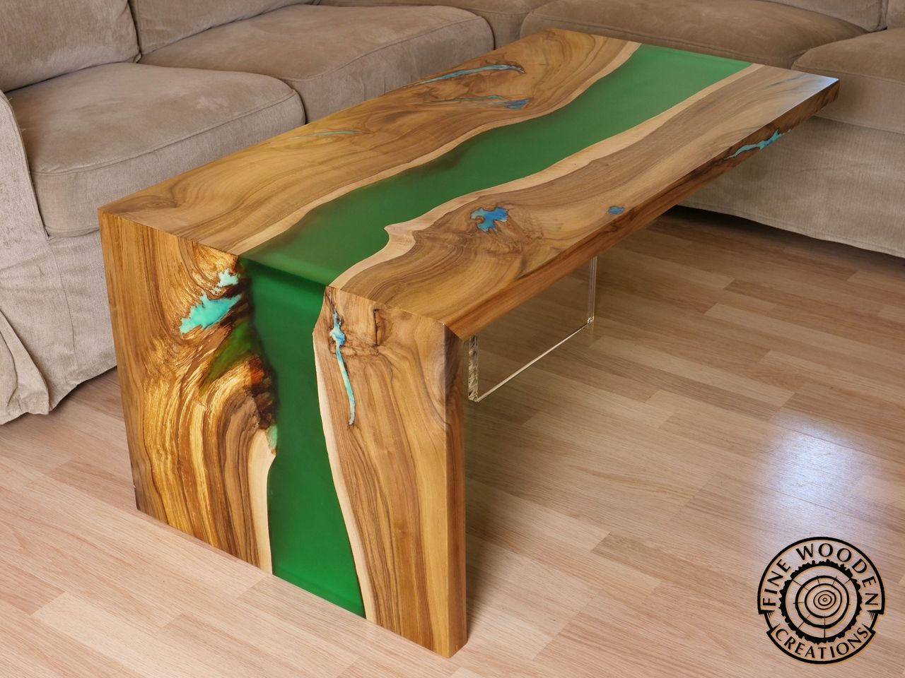 Fine wooden creations live edge river furniture