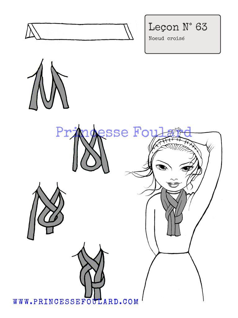 Comment faire un noeud de foulard, écharpe simple ou croisé ... 8d2ecfc0931
