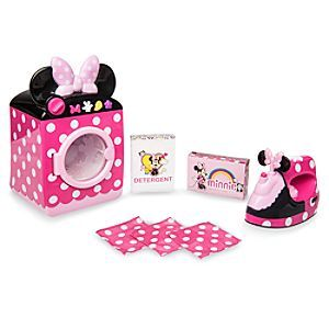 862e4814ead637 Minnie Mouse Laundry Play Set | Disney Store It's laundry day for Minnie  Mouse and we're all invited to help. Minnie's pretend washer/dryer, iron,  ...