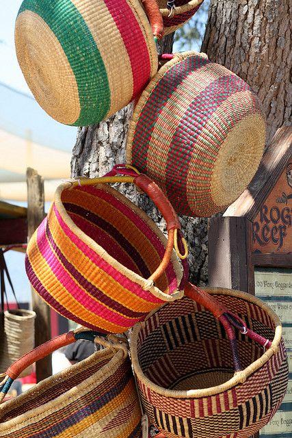 More Baskets Basket Basket Weaving Colorful Baskets