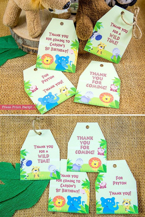 Jungle Safari Favortags Printables Jungle Favor Tags