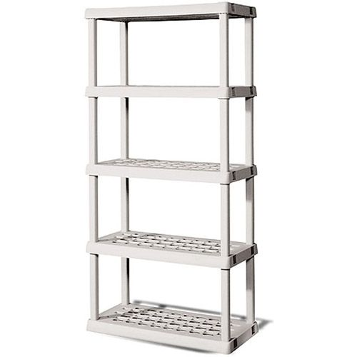 Utility Shelves Walmart Endearing Sterilite 5Shelf Shelving Unit Light Platinum  Walmart Review
