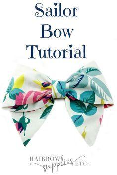 Sailor Hair Bow Tutorial