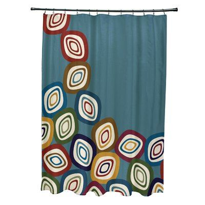 Latitude Run Marc Falling Leaves Geometric Print Single Shower