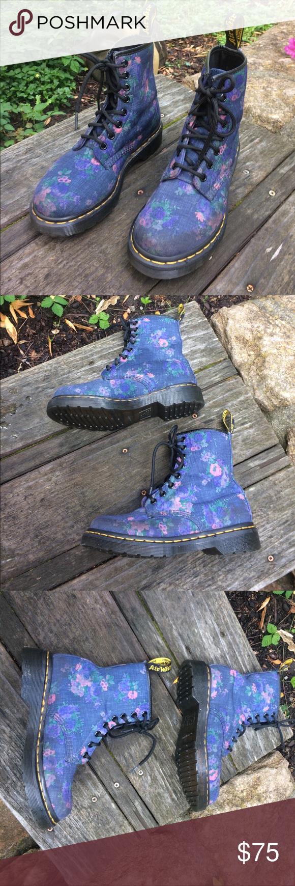 """Dr. Martens Floral """"Castel"""" Wmn. Boots Sz. 5 Boots"""