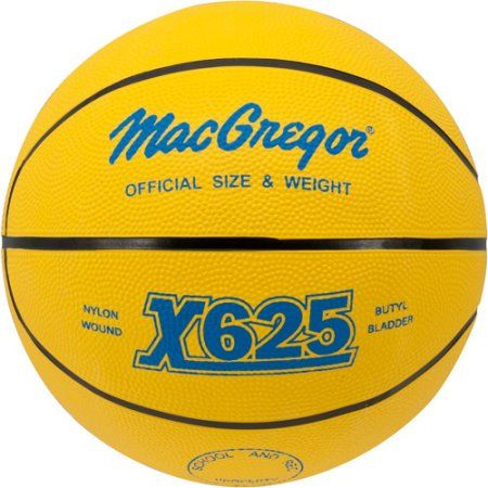 MacGregor Multi-Color Official Basketball, Yellow