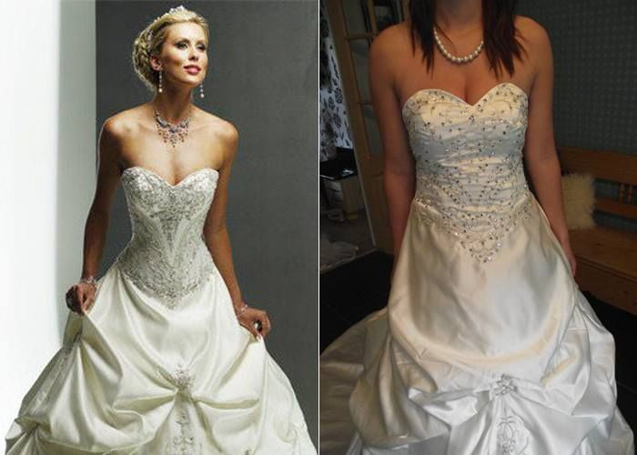 Consider The Size. A Buying A Wedding Dress Online Modest