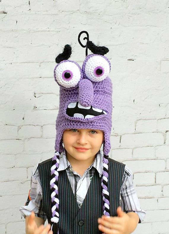Crochet Monster hat | 2 años Paulina | Pinterest | Croché, Gorro ...