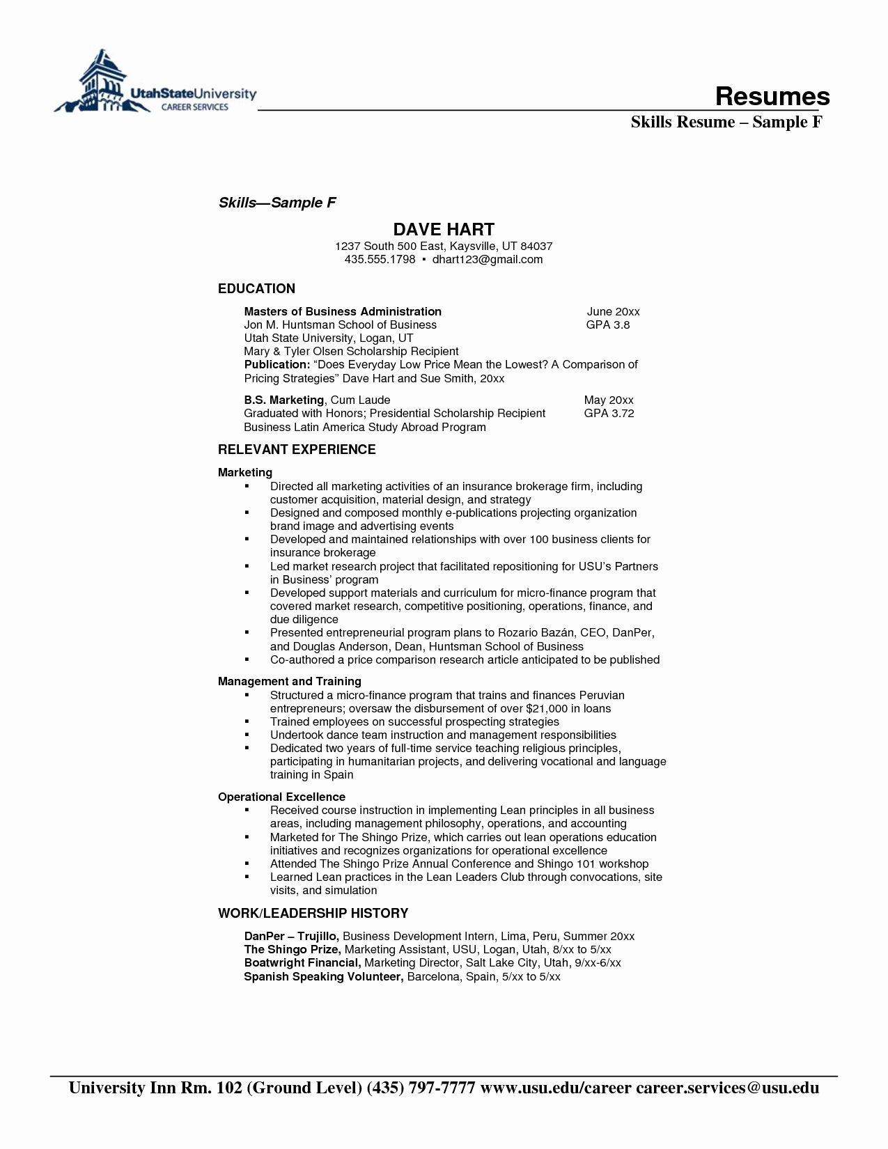 Resume Format For 5 Years Experience In Operations Resume Format Resume Skills Resume Skills Section Resume Format