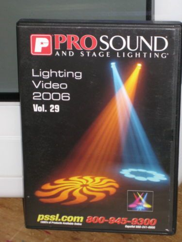 PRO SOUND AND STAGE LIGHTING (DVD, 2006, LIGHTING VIDEO, PSSL)