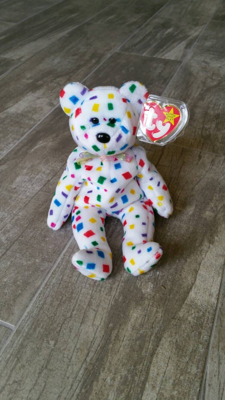 4010617221f RARE TY 2K Bear Original Beanie Baby Collectible Plush Girl Boy Toy  Birthday Party Gift Celebrate New Year Christmas Confetti Home Decor by ...