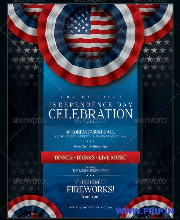 40 Best 4th of July US Independence Day Flyers Print Templates - independence day flyer