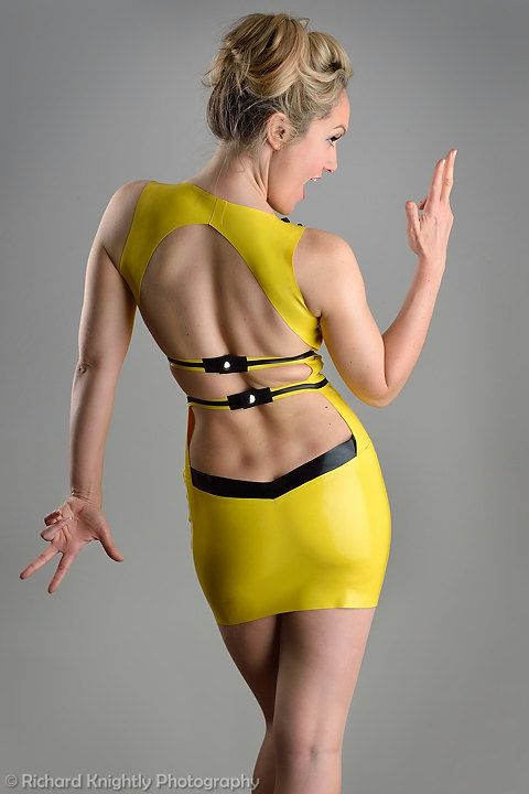 Backless Latex Dress