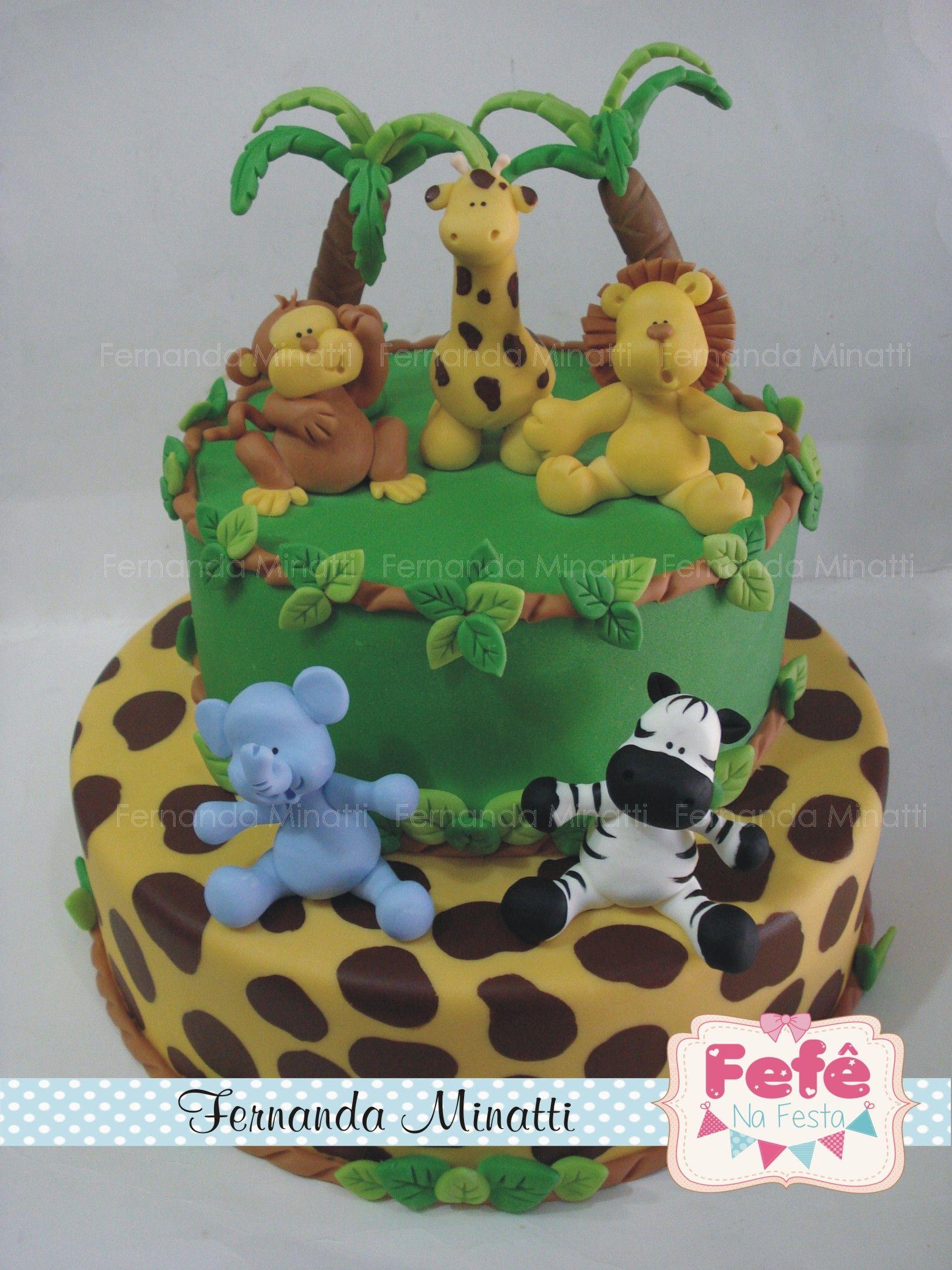 Bolo Cenogr Fico Floresta Jungle Cake Fake By Fernanda Minatti