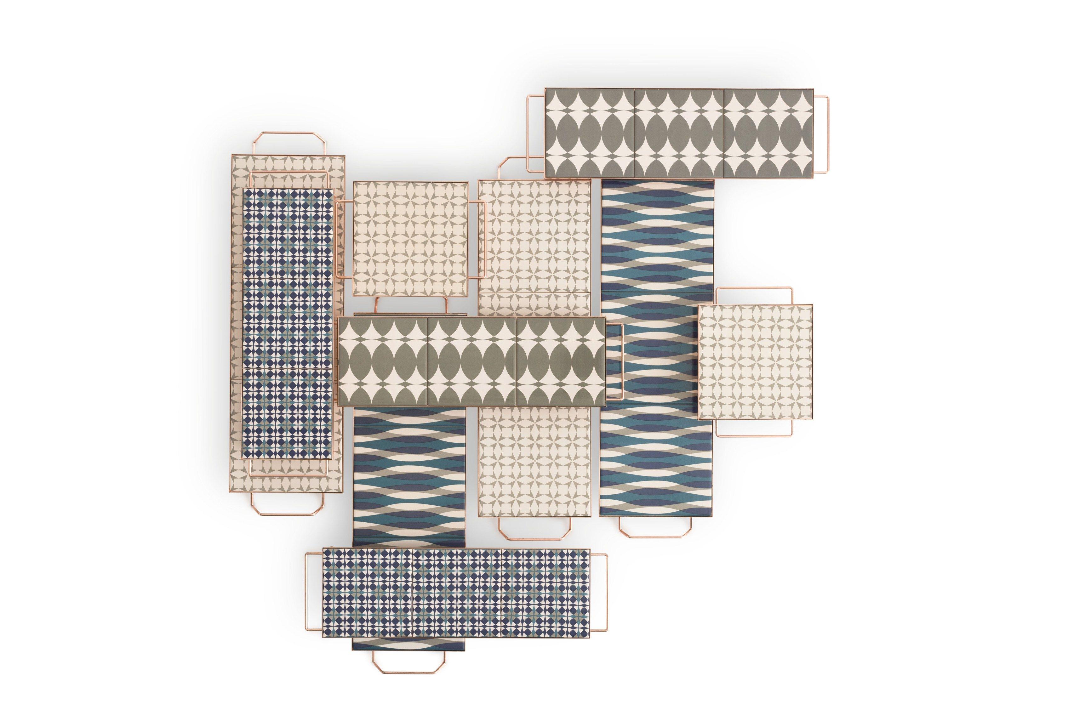 MIX&MATCH Rectangular tray Mix&Match Collection by GAN By Gandia Blasco design Flavia Del Pra