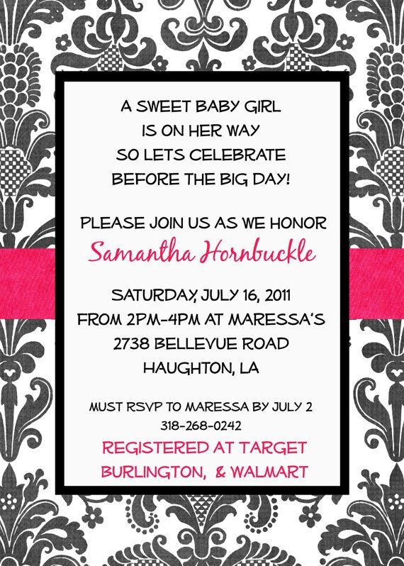 babyshower customized invitation check out my etsy shop i design