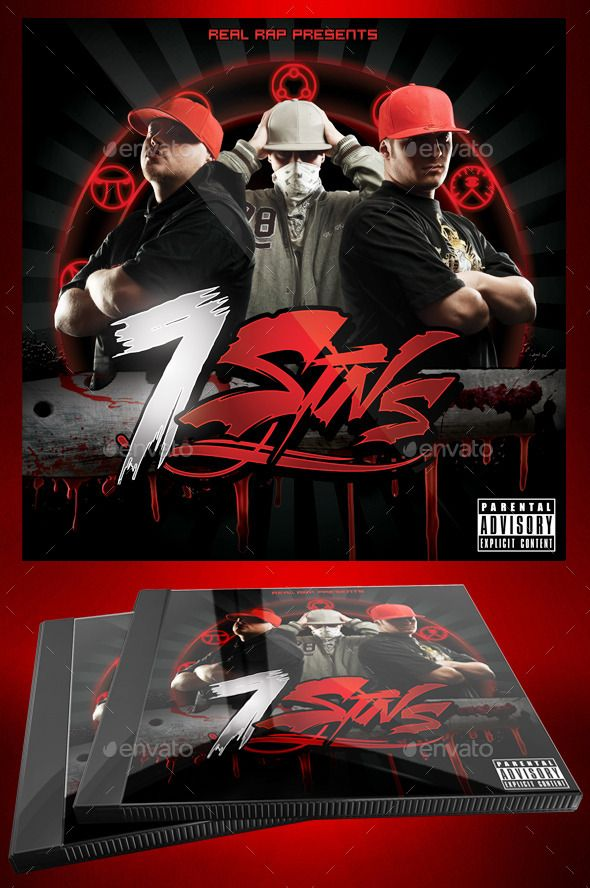 Hip Hop Mixtape  Flyer Or Cd Template   Sins  Mixtape Hip Hop