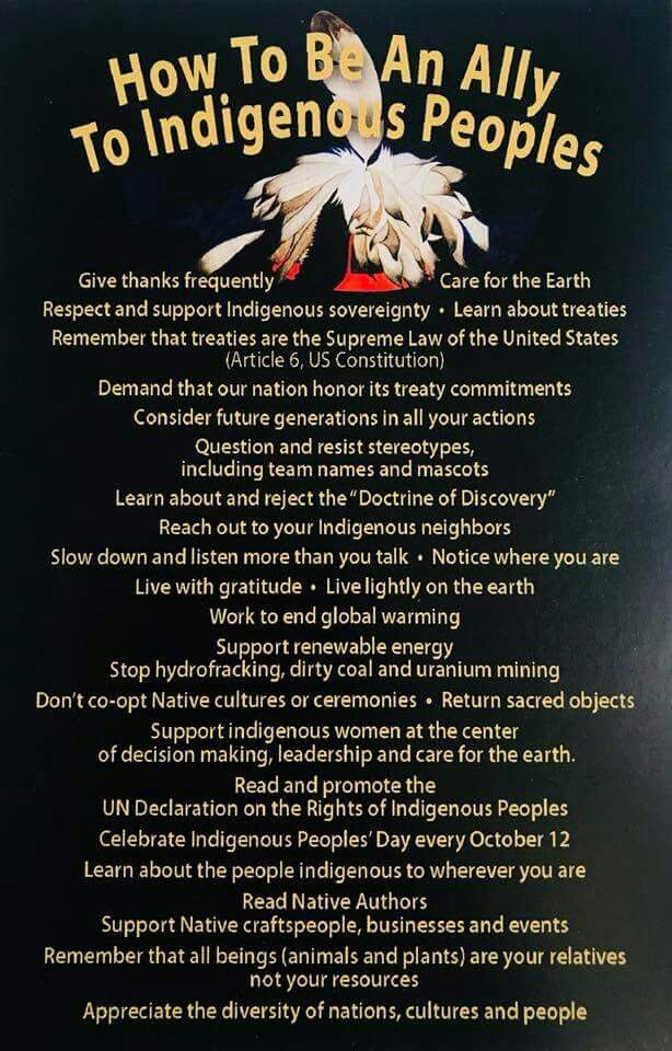 sacred Indigenous peoples, Supportive, Article 6