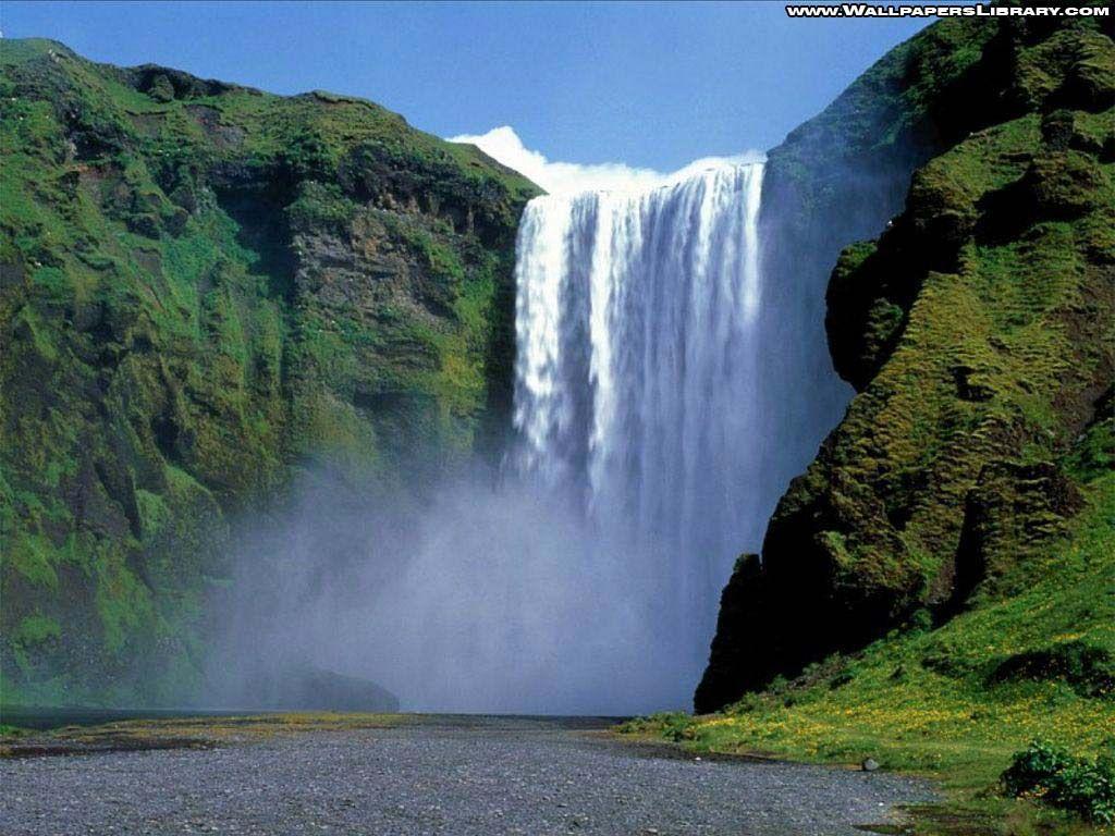 Waterfall landscape wallpaper beautiful planet for Waterfall landscape