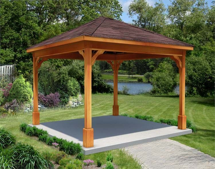 Hot tub gazebo with 4 posts hot tubs pinterest hot for Diy hot tub gazebo