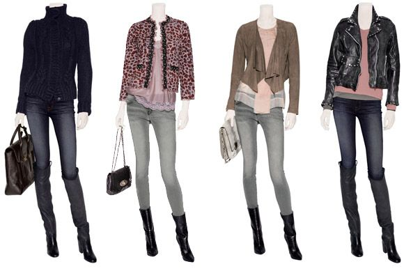 Grey skinny jeans