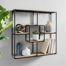 Chalkboards Decorative Hooks Shelves Kirklands In 2020 Metal Wall Shelves Wood And Metal Shelves Metal Furniture Design