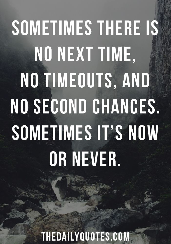 Now Or Never The Daily Quotes Serious Quotes Memes Quotes Daily Quotes