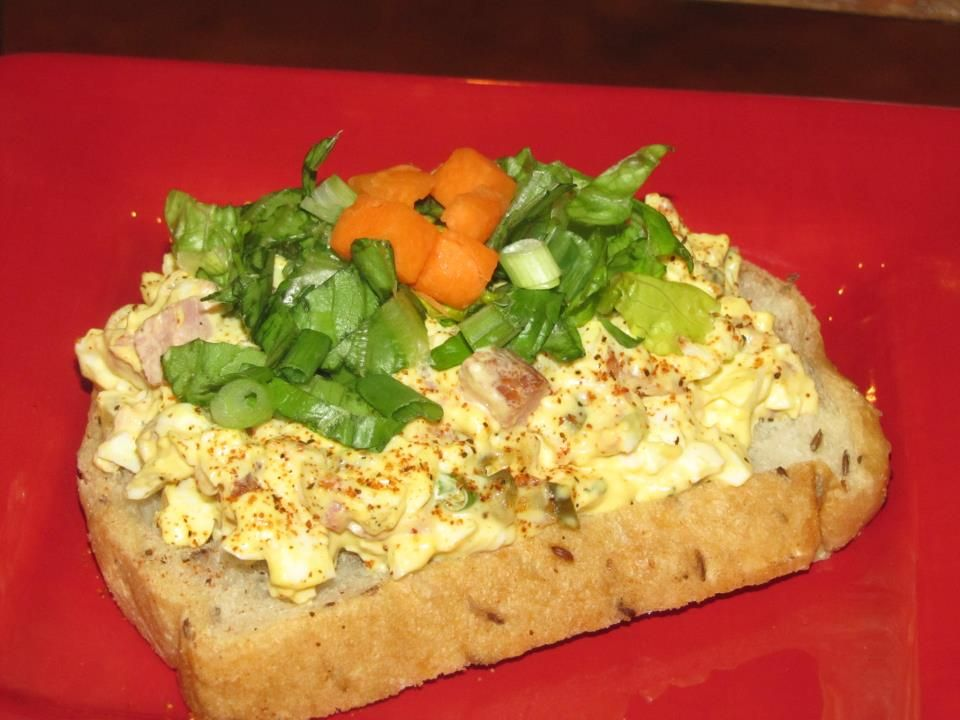 Photo of Teet's Food Challenge:  Tasso Egg Salad Tartine
