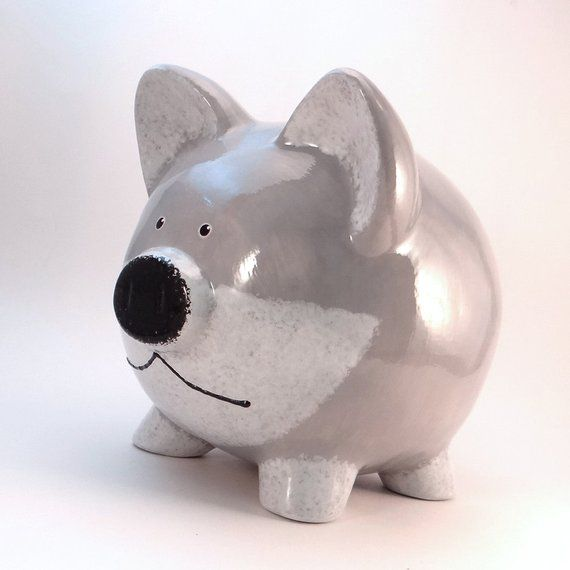 Piggy Bank for Him and You Piggy Bank Holiday Fund 7 1//2in Money Box Bank New
