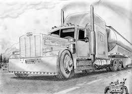 Kenworth W900 Drawing Google Search Peterbilt Truck Art Peterbilt Trucks