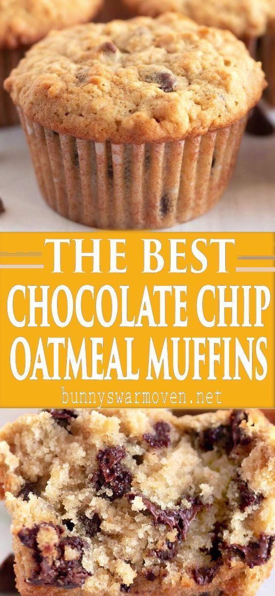 Oatmeal Chocolate Chip Muffins - Bunny's Warm Oven