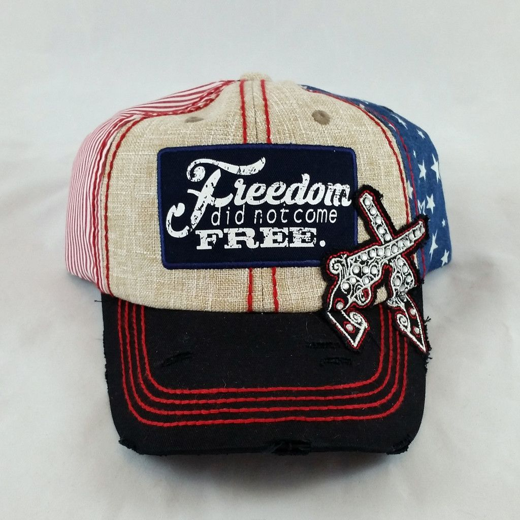 5105e0906f8 Show your All-American spirit with this patriotic baseball cap printed with  the…