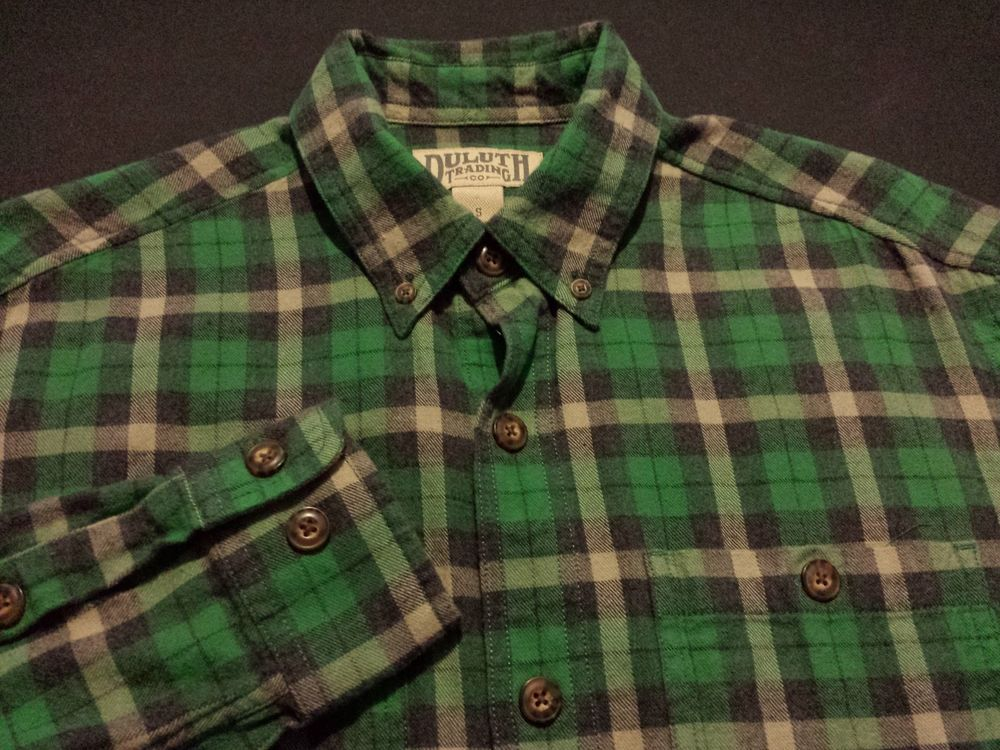 Duluth Trading Co Mens Small Long Sleeve Button Down Green Plaid Flannel Shirt Fashion Clothing Shoes Acce Plaid Flannel Shirt Flannel Shirt Plaid Flannel