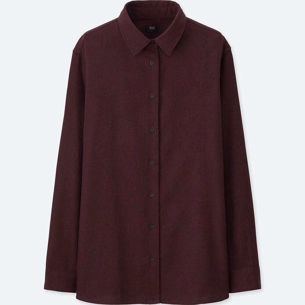 Uniqlo flannel jacket  UNIQLO WOMEN FLANNEL LONG SLEEVE SHIRT  toronto shopping list