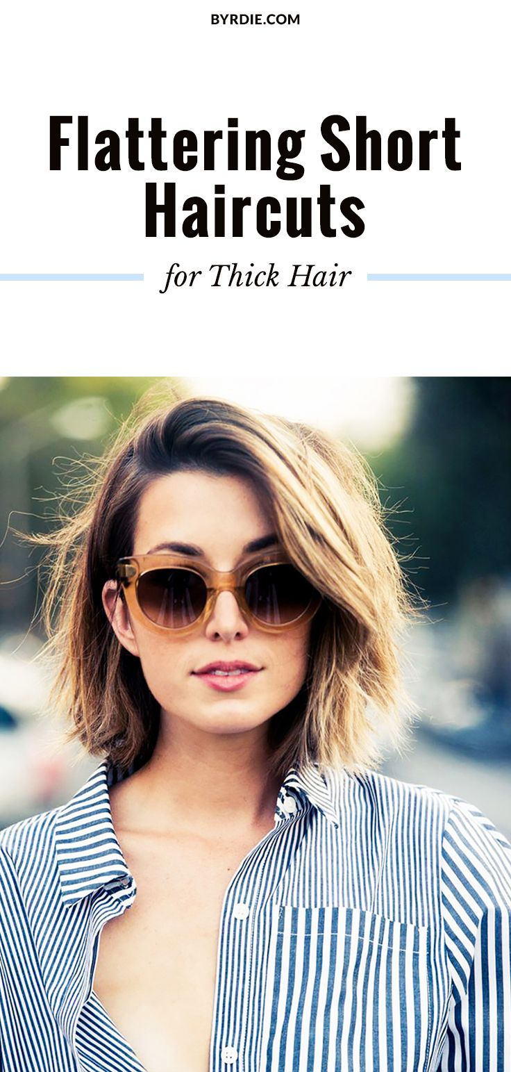 the most flattering short haircuts for thick hair | hair | pinterest