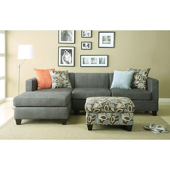anthony charcoal sectional sofa set overstock new beginnings rh pinterest com low cost sofa set in bangalore low cost sofa set