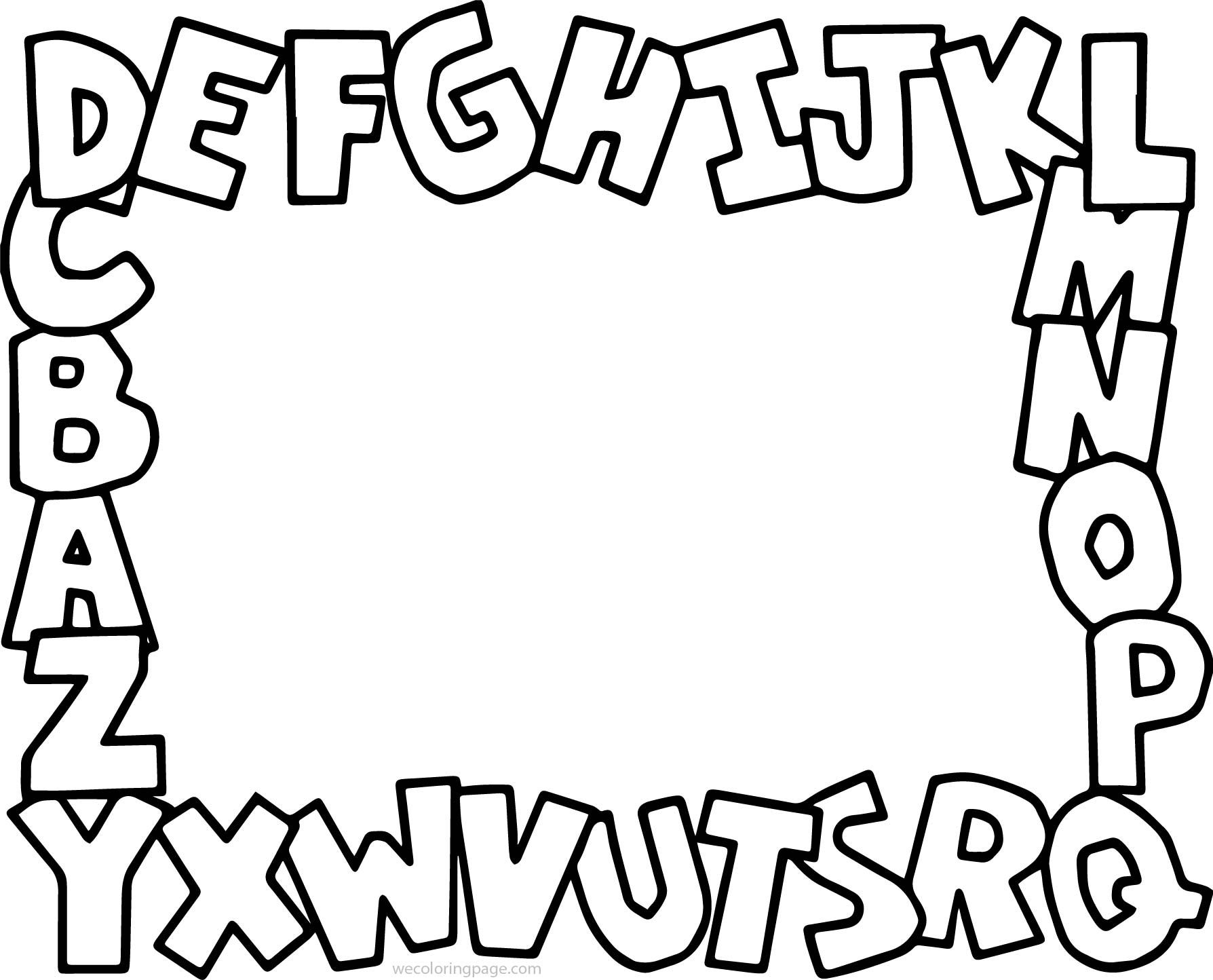 Cool Alphabet Abc Coloring Page Abc Coloring Pages Abc Coloring New Year Coloring Pages