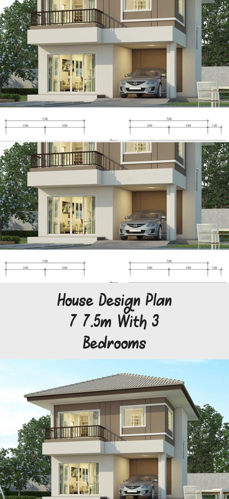 House Design Plan 7x7 5m With 3 Bedrooms Home Design With Plansearch Ranchhousedesign Tropicalhousedesig Home Design Plans House Design Ranch House Designs
