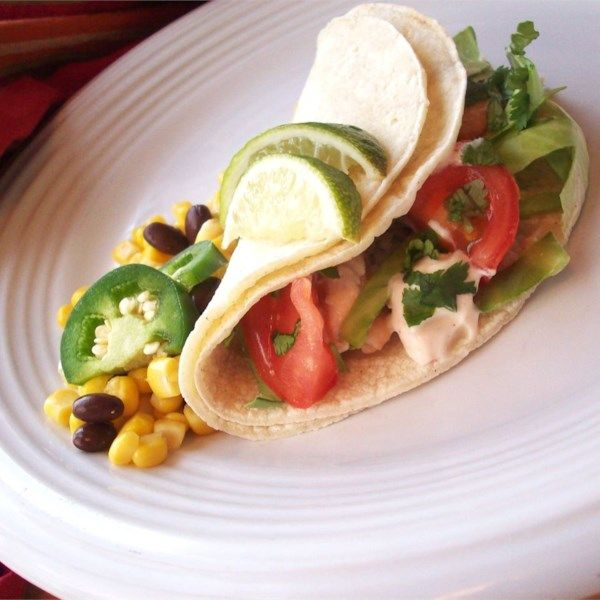 Grilled Fish Tacos With Chipotle Lime Dressing Recipe Grilled Fish Tacos Food Recipes Fish Tacos