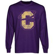 8652061e6 Carroll College Fighting Saints Distressed Primary Long Sleeve T-Shirt -  Purple