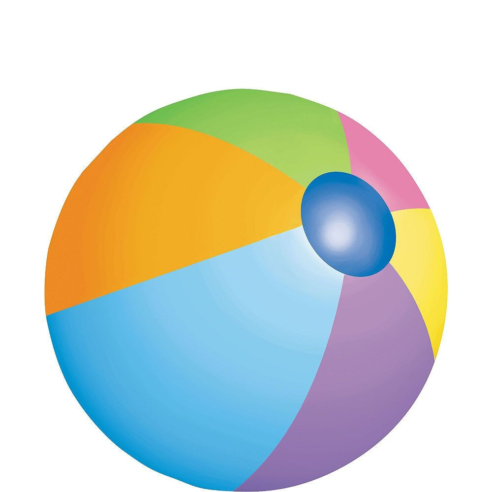 Beach Ball Cutout 8in With Images Beach Theme Party Supplies
