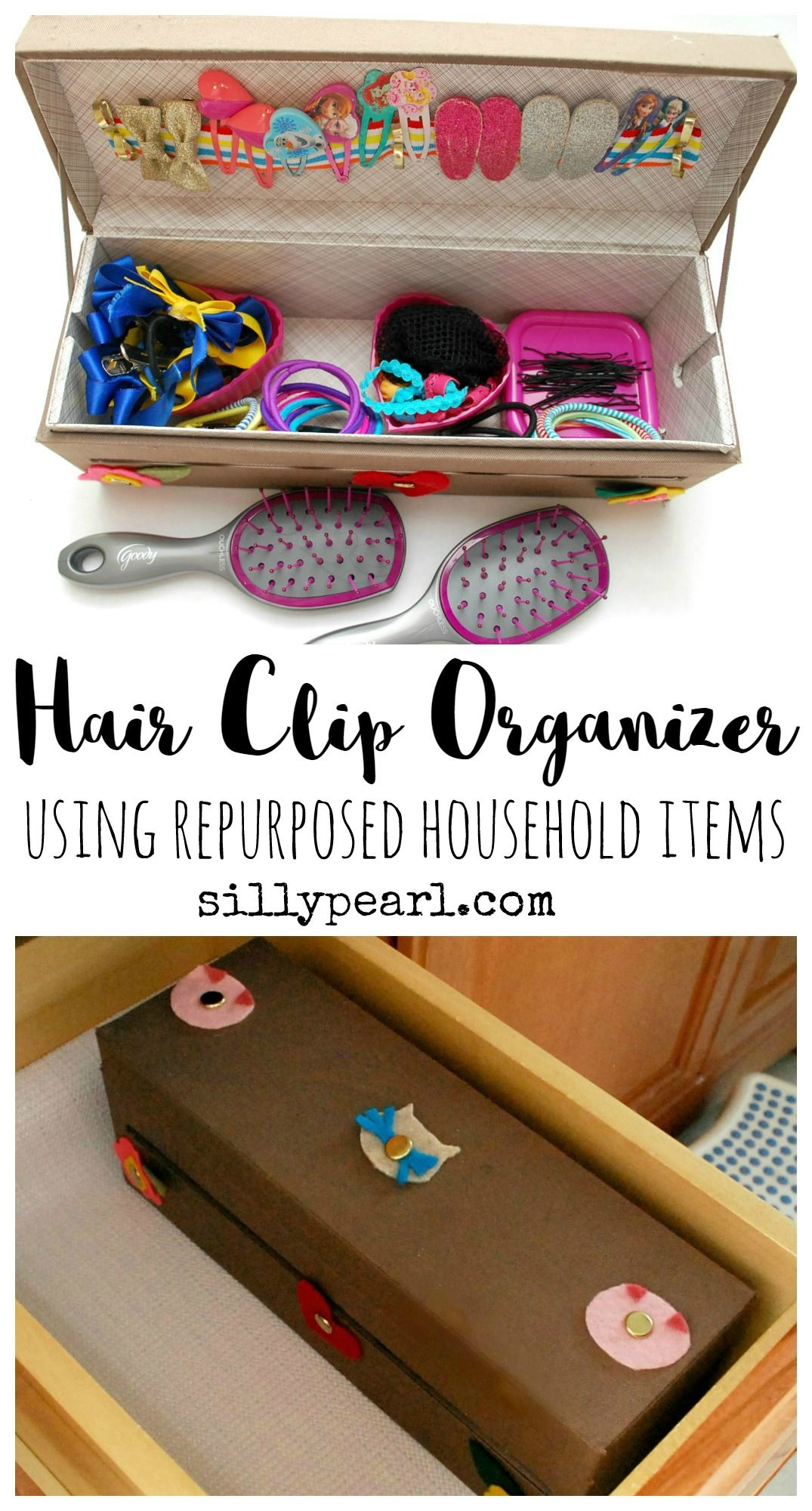 Hair Clip Organizer from Repurposed Items organize house