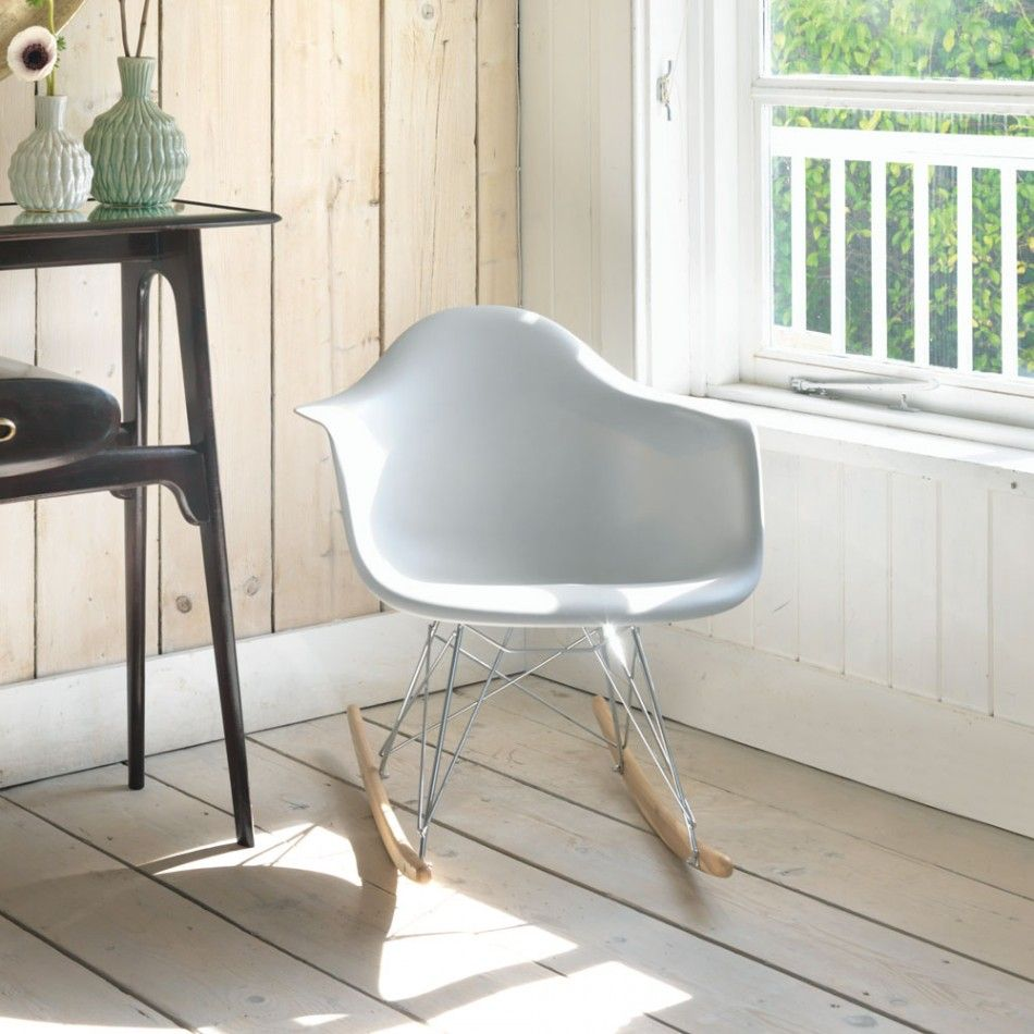 Grey Retro Rocking Chair