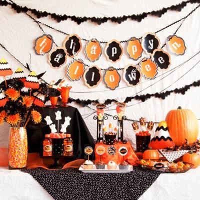 black and orange halloween bash holiday crafts pinterest halloween black and orange - Black And Orange Halloween