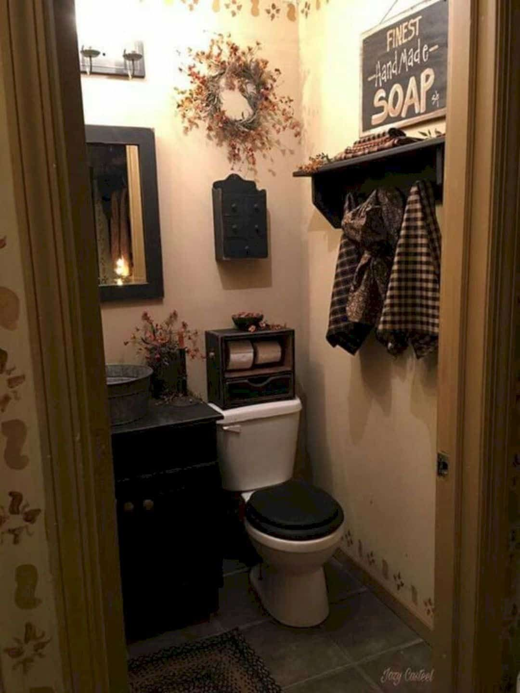 Americana Bathroom Decor 7 in 7  Primitive bathroom decor