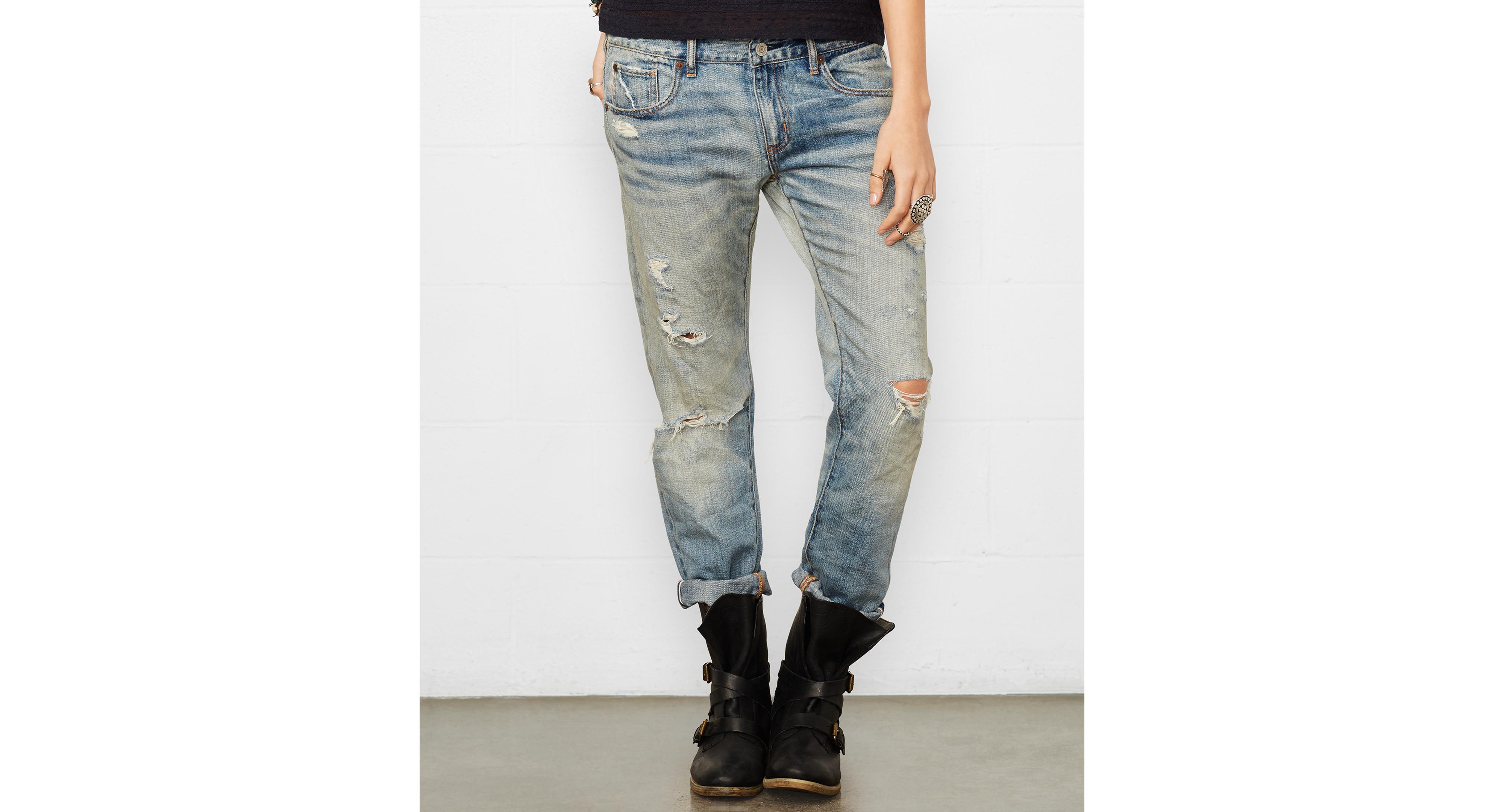 Denim & Supply Ralph Lauren Skinny Boyfriend Jeans, Selvedge Wash